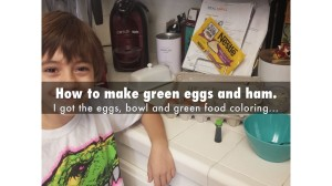 How to make green eggs and ham